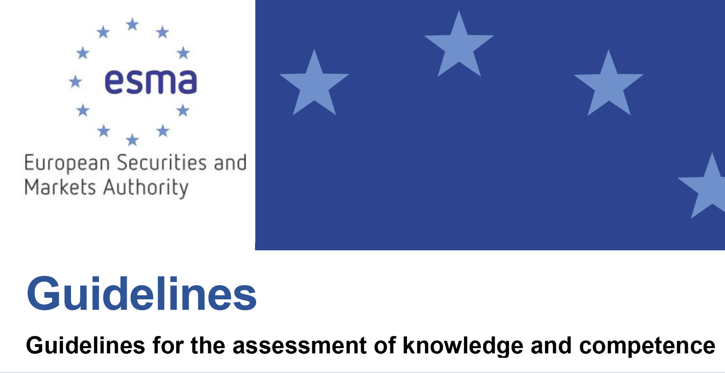 Final report on the Guidelines for the assessment of knowledge a